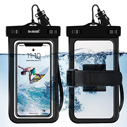 memumi Funda IPX8 Impermeable para Teléfono Movil, [Desbloquear Huella Digital] Bolsa Estanca Funda Impermeable para Celular Compatible con iPhone 12 Pro MAX/Samsung y Más Celulares