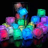 12 Pcs Cubito de Hielo Luces LED Submarinas Intermitentes Luz del Sensor de Líquido LED Colorido y Reutilizable Decorativo para Fiesta, Boda, Club y Bar