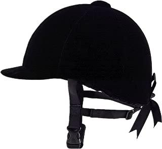 UNISTRENGH Equestrian Hat Helmet Black Velvet Comfy Horse Riding Hats Breathable Horse Riding Helmets for Womnes,Girls,Toddlers