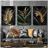 ZHANGPENGBOFBH Blätter Malerei Gold Wandbilder