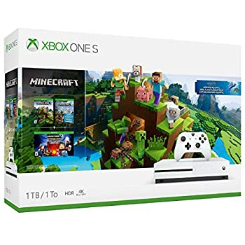 Xbox One S 1TB Console ? Minecraft Bundle  Discontinued  White