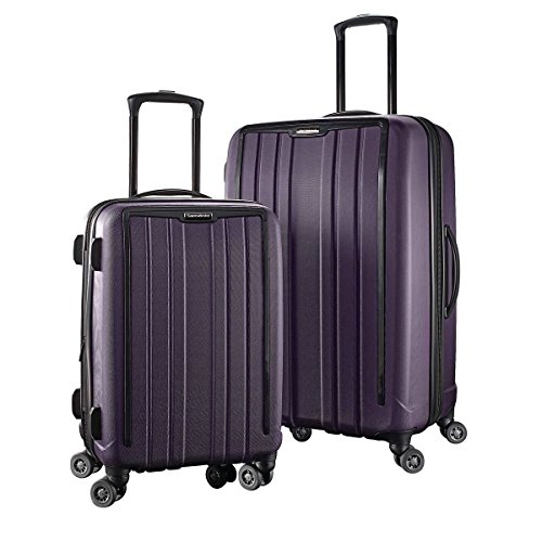 Samsonite 2 Piece ExoFrame Polycarbonate Spinner Suitcase Set 20' 28' Purple