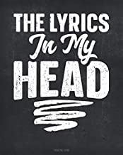 The Lyrics In My Head Songwriting Journal: Blank Lined & Manuscript Paper 130 Pages 8x10