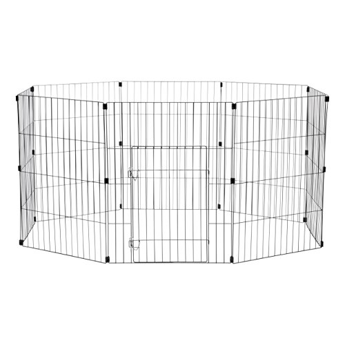"IRIS 30"" Wire Pet Pen, Black"
