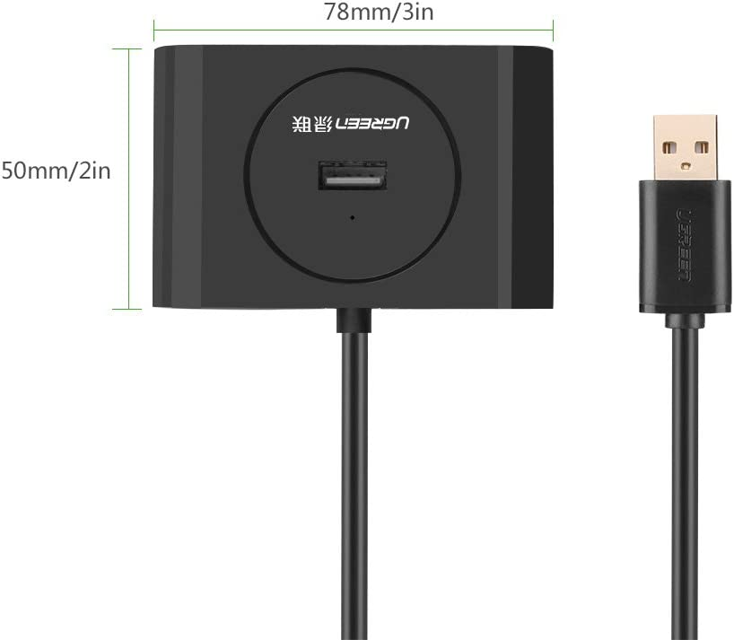 UGREEN USB Extension Cable USB 2.0 Active Repeater Extension Hub Cable 4-Port USB Hub A Male to A Female with Built-in Signal Booster Chips 15ft