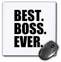 Best Boss Ever–Gifts for the Boss–Office Humor–ブラックテキスト–マウスパッド、8× 8インチ( MP _ 203240_ 1)