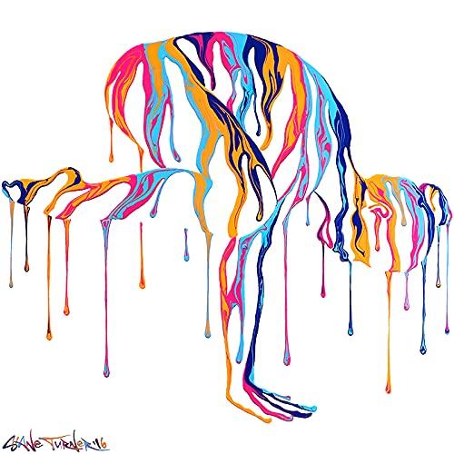 Pintura abstracta en lienzo de yoga, carteles e impresiones de bailarina, imagen decorativa de pared, pintura, estudio de yoga, gimnasio, decoración del hogar, 30x30 cm, sin marco