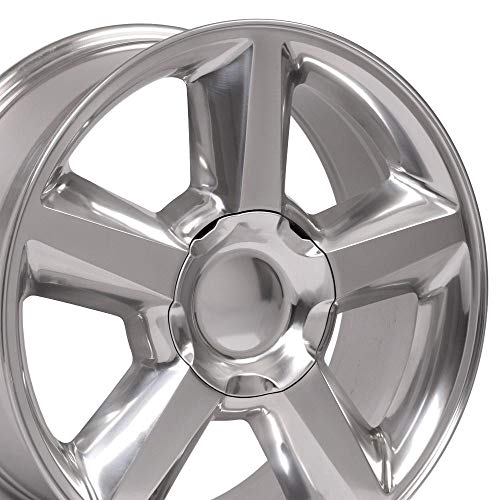 OE Wheels LLC 20 inch Rim Fits Chevy Tahoe LTZ Wheel CV83 20x8.5 Polished Wheel Hollander 5308