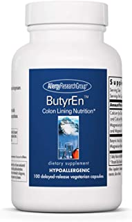 Allergy Research Group - ButyrEn - Butyric Acid - Colon Lining Nutrition - 100 Delayed Release Capsules