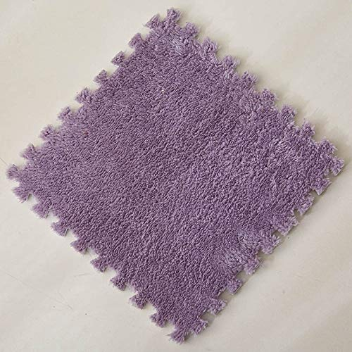 JINGMIAO Alfombras plegables para salón, felpa, suave, Climbing Cappet, Split Joint Baño Antideslizante, alfombra de pelo rosa