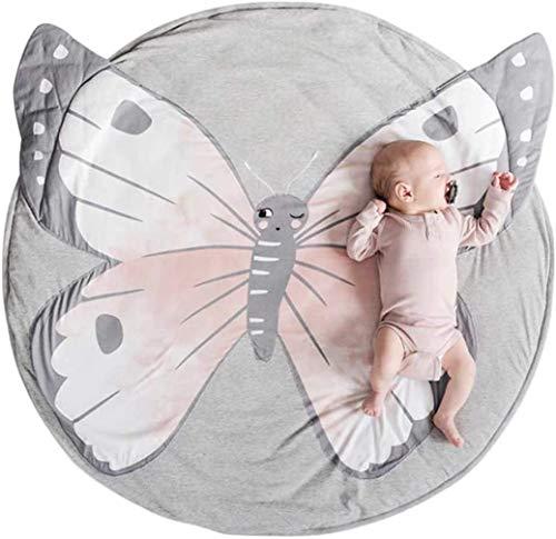 Baby Krabbeldecke Matt Kinderteppich Decke Spiel Matten Baumwolle 95cm (Schmertterling)