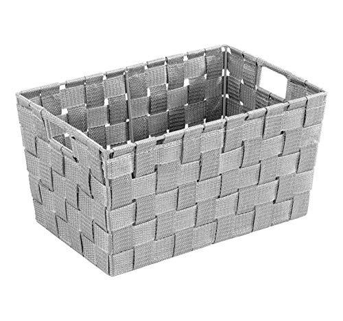 WENKO Aufbewahrungskorb Adria S Grau - Badkorb, Küchenkorb, Polypropylen, 30 x 15 x 20 cm, Grau