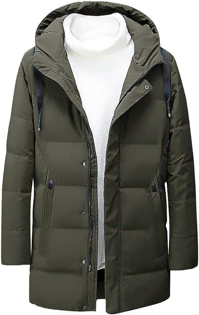 Down Jacket Men, NRUTUP Water-Resistant Puffer Jacket, Smart Full-Zip Parka Winter Coat