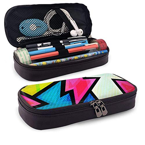 XCNGG Estuche para lápices neceser Graffiti Seamless PatternLeather Pencil case, Waterproof, Fashionable and Durable, can be Used for Students, Schools, Offices, Colleges
