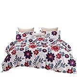 Ropa De Cama Textiles para El Hogar Funda Nórdica con Estampado Floral Suave Cómoda Duradera Y Fácil De Limpiar 229x264cm