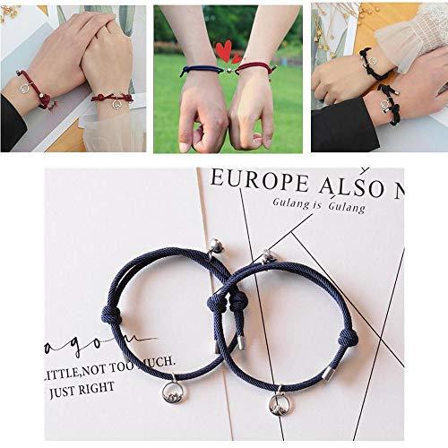 Aifono 2pcs Couple Magnetic Attraction Bracelet Friendship Rope Lover...