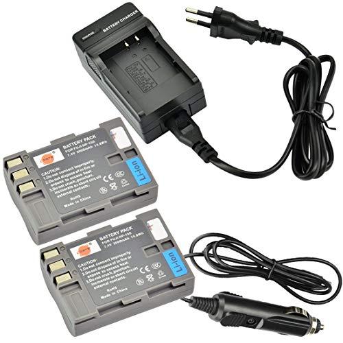 DSTE 2-Pieza Repuesto Batería y DC11E Viaje Cargador kit para Fuji NP-150 FinePix S5 Pro FinePix IS Pro