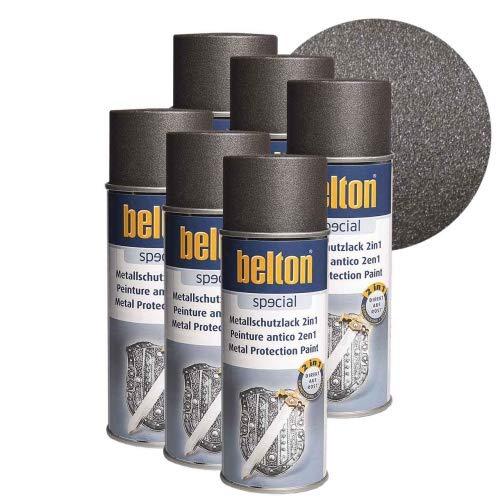 6 x Belton Metallschutzlack 2in1 Eisenglimmer Anthrazit 0,4l
