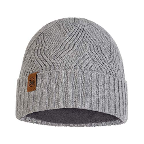 Buff 120840.937.10.00 Knitted & Polar Hat Artur Grey Unisex-Adult, Grau, Einheitsgr e