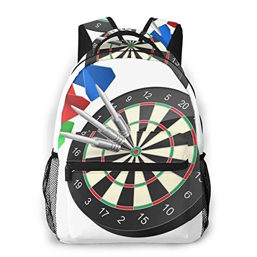 Rucksack Männer und Damen, Laptop Rucksäcke für 14 Zoll Notebook, Genauigkeit Raster Dartboard Darts Kinderrucksack Schulrucksack Daypack für Herren Frauen