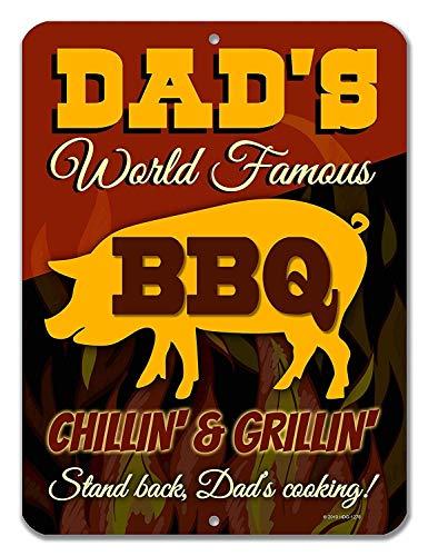 Honing Dauw Geschenken Keuken Decor, Papa's Wereld Beroemde BBQ Chillin' & Grillin' Man Grot Tekenen en Decor, Gemaakt in de VS