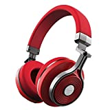 Bluedio T3(Turbine 3rd) Bluetooth4.1 3D Stereo Sound Effect Headsets Wireless Headphone with Mic, 57mm Drivers/Rotary Folding Micro-USB Charging for iPhone/Android (Red)