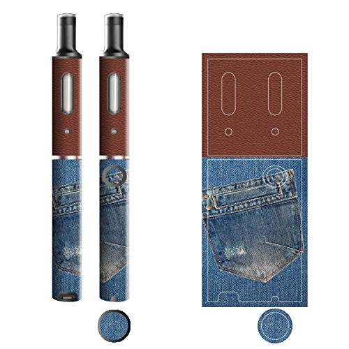 電子たばこ タバコ 煙草 喫煙具 専用スキンシール 対応機種 プルームテックプラスシール Ploom Tech Plus シール Jeans デニム モチーフコレクション 04 ポケットB 21-pt08-2134