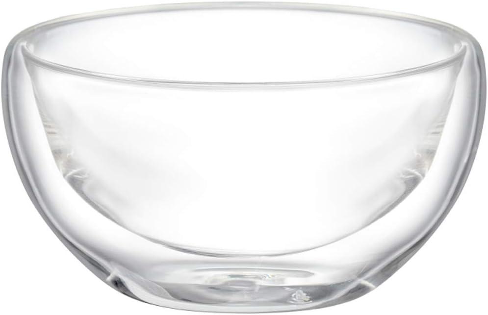 AMBITION 96866 Cuenco de Cristal de Doble Pared (300 ml), Transparente, Vidrio