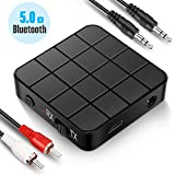 Transmetteur Récepteur Bluetooth 5.0, Adaptateur Bluetooth Sans Fil 2 en 1 Transmetteur et Récepteur avec Sortie Stéréo RCA...