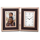 Bulova B1867 Scottsdale Picture Frame Clock, Rose Gold-Tone