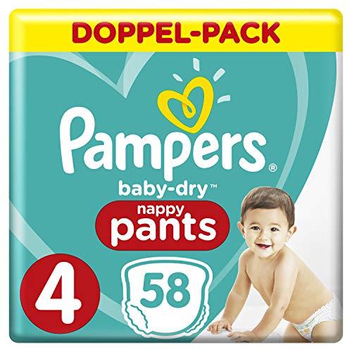 Pampers Baby-Dry Pants/Windeln, Größe 4, mit Luftkanälen, 58 Stück