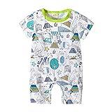 Ropa Bebe Niño Pijama Corto Mamelucos Verano Disfraz Animal Pelele Camiseta Mono Recien Nacido Body Verde 0-3 Meses
