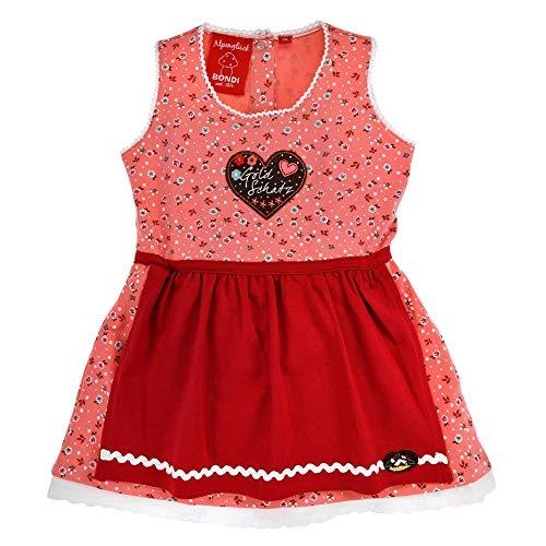 BONDI Mädchen Dirndl Trachtenkleid Kleid aus Baumwolle (80)