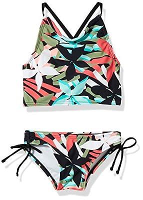 Kanu Surf Girls' Daisy Beach Sport Halter Tankini 2-Piece Swimsuit, Rowan Green, 12