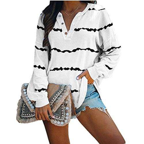 Binggong Jersey de manga larga para mujer, a rayas, patchwork, informal, larga, deportivo, sudadera con capucha