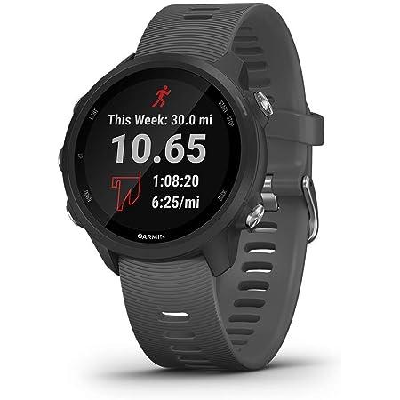 Garmin Forerunner 245, GPS Running Smartwatch with Advanced Dynamics, Slate Gray (Renewed)