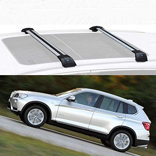 Mmhot Barra De Techo De Aleación De Aluminio Barra Cruzada Barras De Carga De Techo Barra De Techo Barras Transversales De Riel Superior Compatible con X3 2011-20 (Size : For BMW X3 2012)