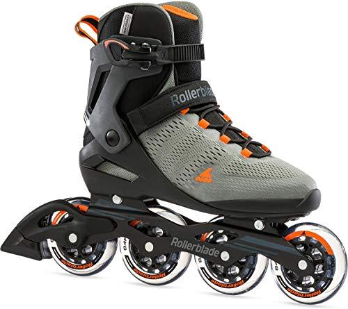 Rollerblade Herren Sirio 90 Inline-Skate, Antracite/Arancio, 47.5 EU