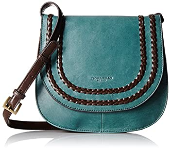Tignanello Boho Classic Vintage Leather Saddle Bag Juniper/Dark Brown