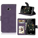 For LG K5 Case,Matting PU Leather Protection 3 Card Slots