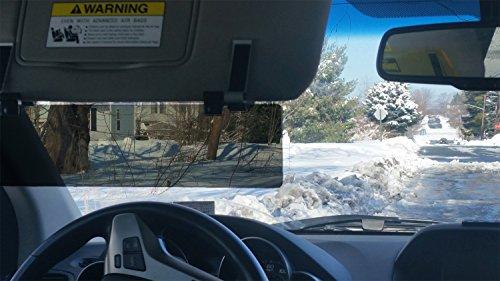 GlareGuardグレアガード偏光サンバイザー車用(サイズ35.6cm×8.3cm)MadeinUSA汎用タイプUV99.9パーセントカット