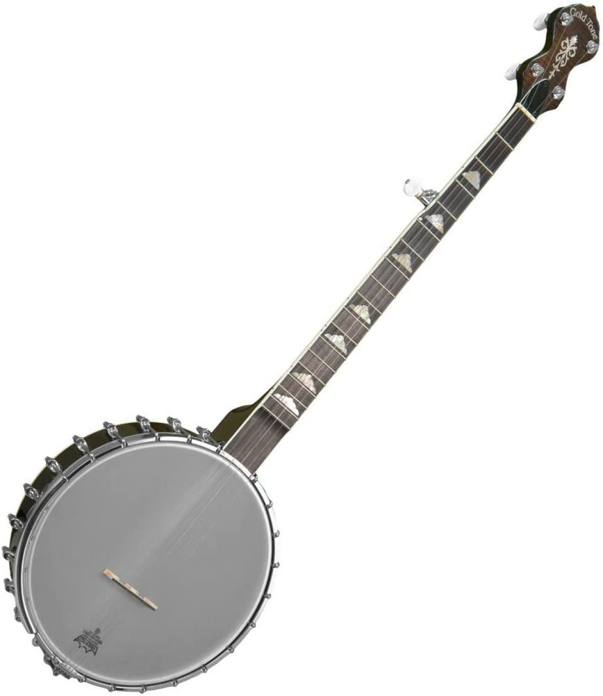 Gold NEW before selling ☆ Chicago Mall Tone 5-String Ladye White Banjo