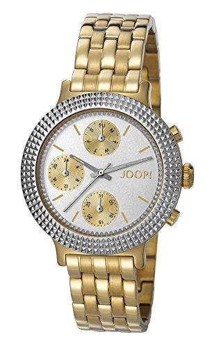 Joop! Damen Analog Quarz Uhr mit Edelstahl beschichtet Armband JP101852004