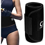 Maxboost Waist Trimmer, Premium Weight Loss Ab Belt for Men & Women [Black, Classic Medium] Workout Sweat Enhancer Exercise Adjustable Wrap for Stomach- Enjoy Sweet Abdominal Muscle & Back Support