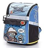 Schulranzen Jungen 1. Klasse - Ergonomische Schultasche für Kinder - Schulrucksack mit Brustgurt -...