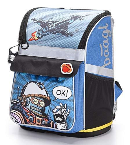 Schulranzen Jungen 1. Klasse - Ergonomische Schultasche für Kinder - Schulrucksack mit Brustgurt - Grundschule Ranzen (Spaceman)