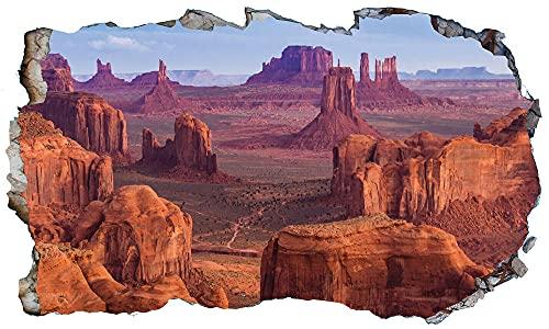 Pegatinas de pared Póster De Vinilo Autoadhesivo De Montaña 3D Magic Window Wall Art- 80×120cm