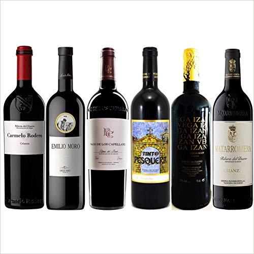 Lote Estuche Regalo Los Mejores Vinos - Ribera del Duero Crianza- 6 Botellas -Seleccionados y enviados por Cosecha Privada