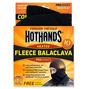 HotHands HeatMax Balaclava Head & Neck Warmer  Black