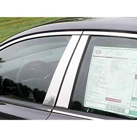 Compatible with 2011-2015 Kia Optima 6PC Stainless Steel Chrome Pillar Post Trim Made in USA
